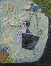 油絵絵画「猫」